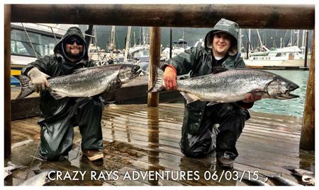 Alaska Salmon Fishing Trips with Crazy Rays