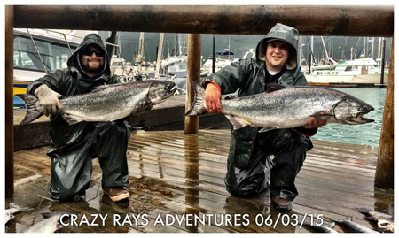 Alaska Salmon Fishing Trips with Crazy Rays